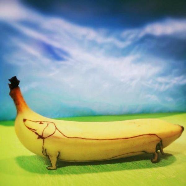 搞笑,创意,另类图片:林抒情:香蕉可以怎么玩-可爱图片