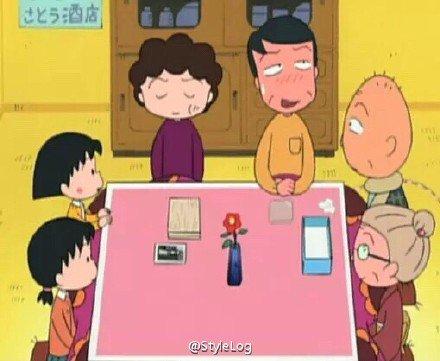 漫画,搞笑,卡通,另类图片:小丸子的新年全家福 一家人