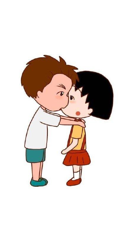 萌妹子,可爱,单图,另类图片:-ah:小丸子的男朋友