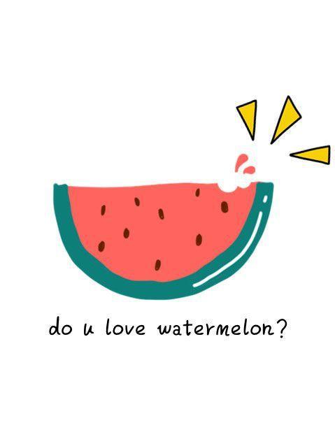 西瓜,美食,创意,另类图片:夏天,想要跟你在一起-可爱
