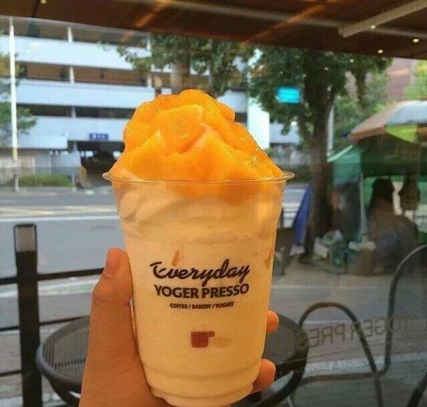 美食,创意,冰淇淋,另类图片:芒果酸奶雪糕杯-可爱图片