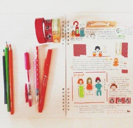 可爱,创意,另类图片:亲爱:别人的手账本