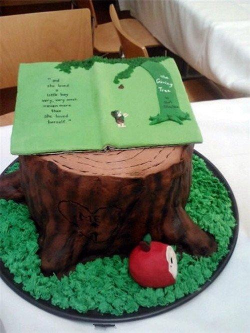 创意,美食,另类图片:可爱的书本蛋糕