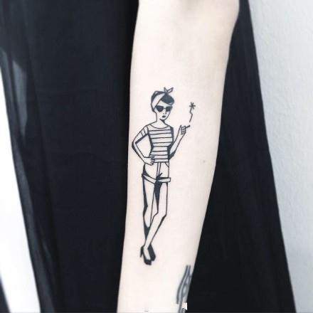 原宿,另类图片:daiays:女生小纹身