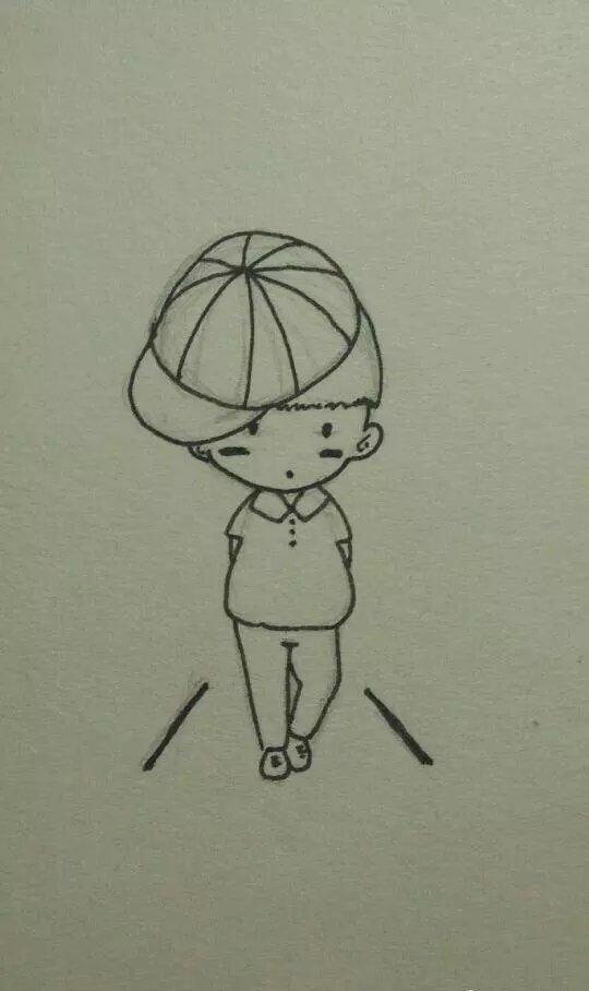创意,另类图片:酷酷哒小男孩-可爱图片-七七空间
