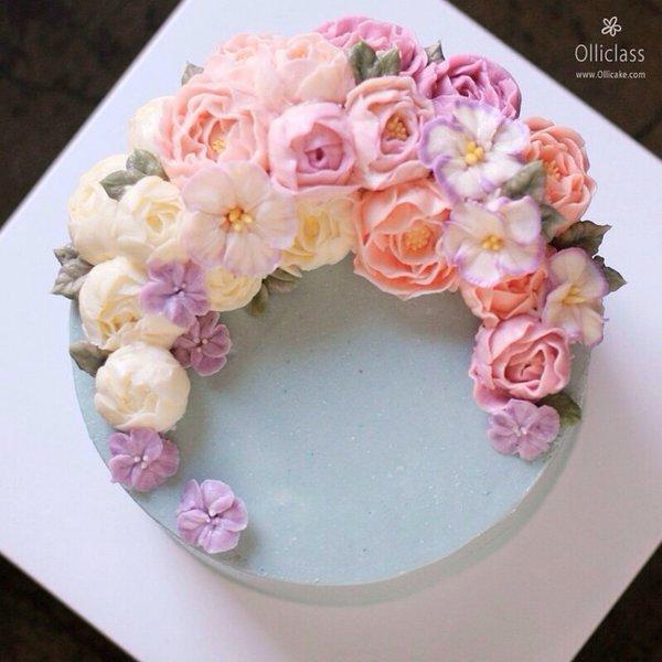 美食,另类图片:凉柒:韩式裱花蛋糕-可爱图片-七七空间