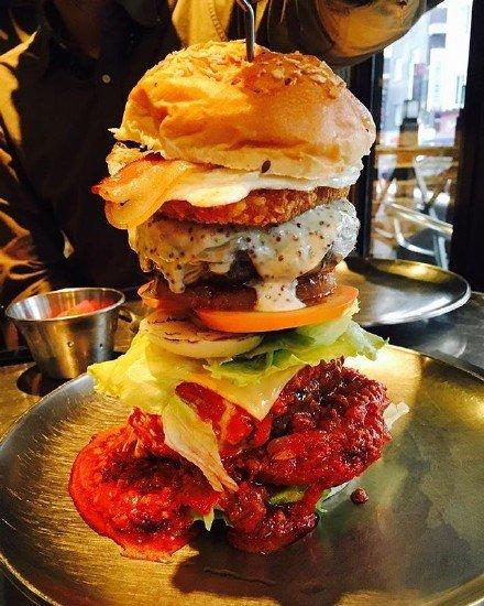 美食,可爱,单图,另类图片:韩国梨泰院汉堡