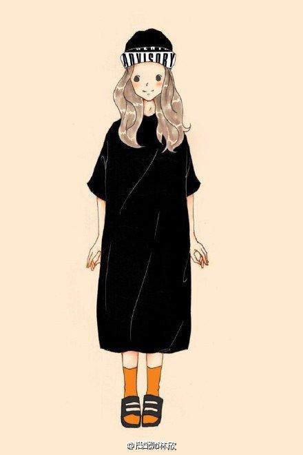 可爱,创意,萌妹子,另类图片:萌萌的女生日常穿搭手绘