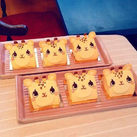 美食,另类图片:萌哒的小动物蛋糕-可爱图片-76钱柜