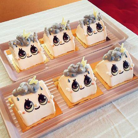 美食,另类图片:萌哒的小动物蛋糕-可爱图片-七七空间